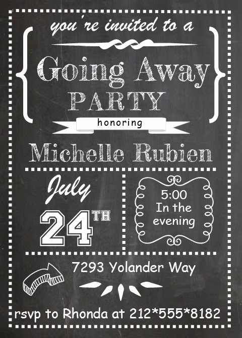 Going Away Party Invitation Beautiful Going Away Party Invitations New Selections 2017