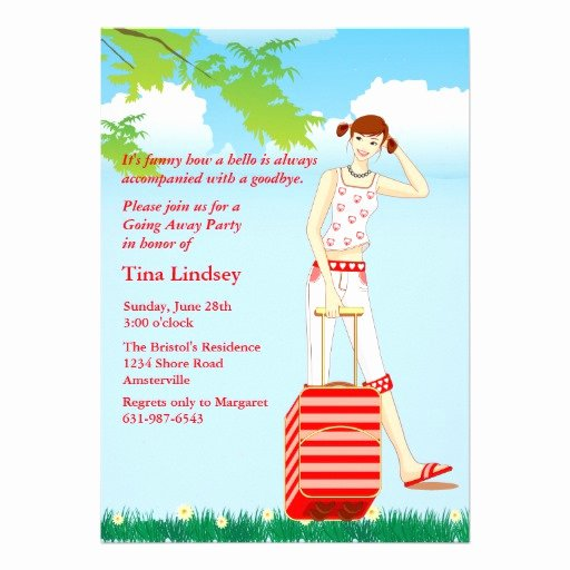 "Going Away Party Invitation Best Of My Way Going Away Party Invitation 5"" X 7"" Invitation"