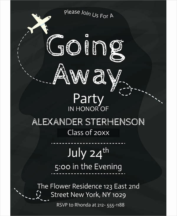Going Away Party Invitation Elegant 13 Going Away Party Invitation Designs & Templates Psd