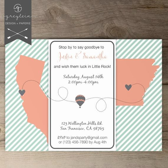 Going Away Party Invitation Elegant Going Away Party Invitation Printable