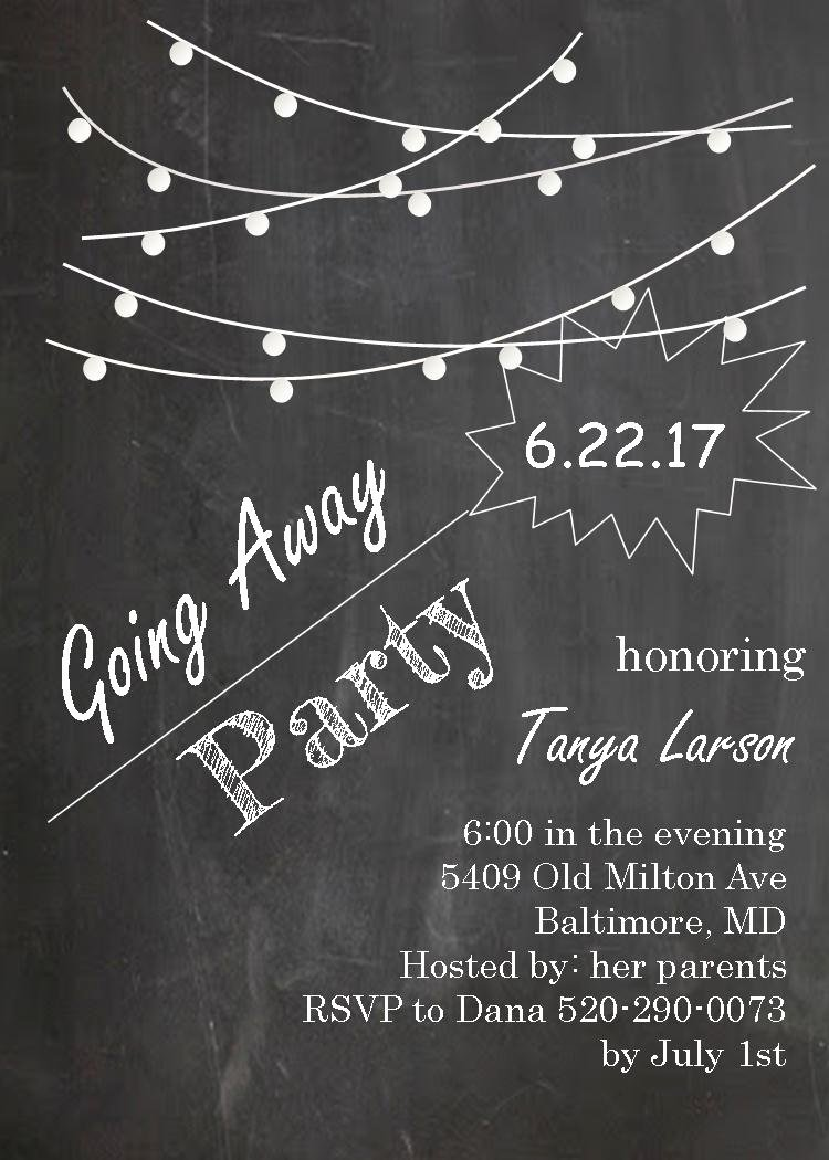 Going Away Party Invitation Fresh Going Away Party Invitations New Selections 2017