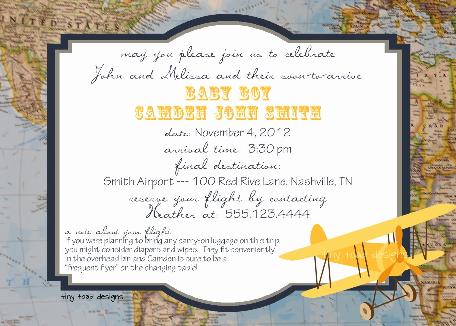 Going Away Party Invitation Lovely Aviation Map Baby Shower Invitations or Going Away Party