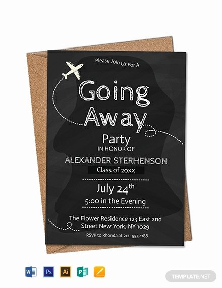 Going Away Party Invitation Lovely Free Printable Going Away Party Invitation Template Word