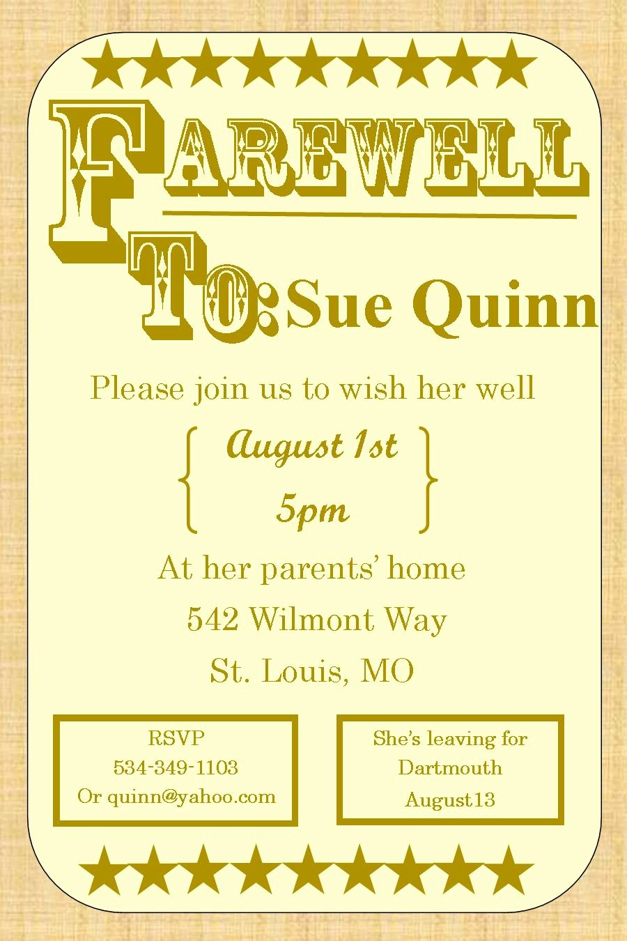 Going Away Party Invitation Lovely Going Away Party Invitations New Selections 2017