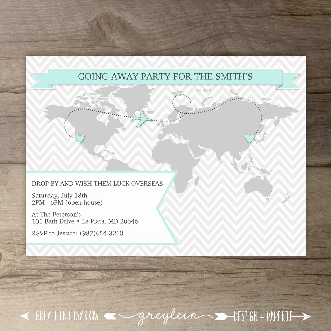 Going Away Party Invitation Lovely Going Away Party Invitations World Map Goodbye Party Invites