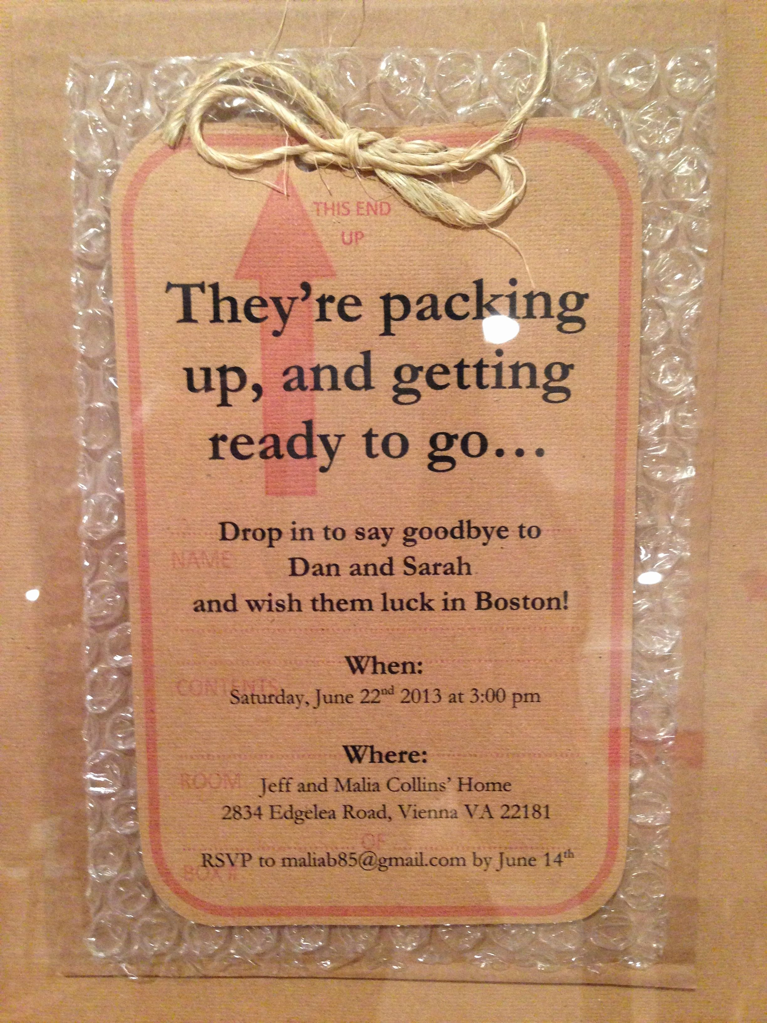 Going Away Party Invitation New Going Away Party Invitation On Bubble Wrap