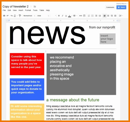 Google Doc Flyer Template Awesome Newspaper Template for Google Docs 2018