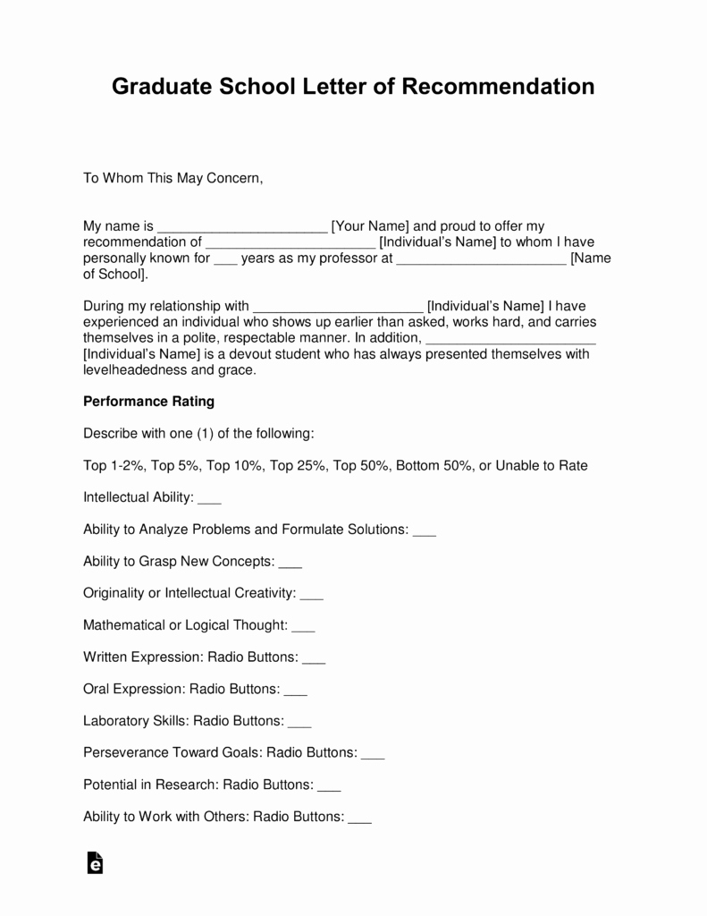 Grad School Letter Of Recommendation Awesome Sample Letter Re Mendation for Graduate School From