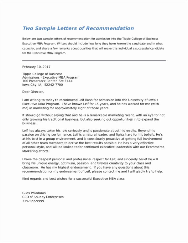 Grad School Letter Of Recommendation Inspirational Free 43 Letter Of Re Mendation Samples & Templates In