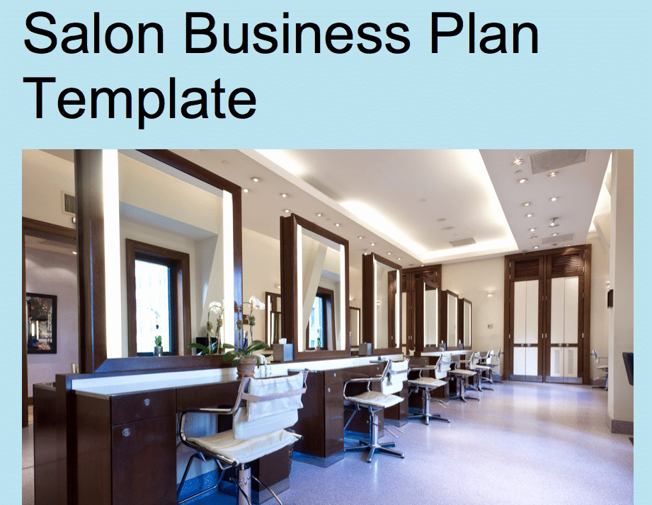Hair Salon Business Plans Awesome Hair Salon Business Plan Template Black Box Business Plans