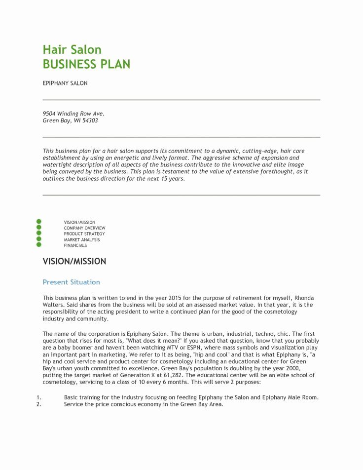 Hair Salon Business Plans Best Of Best 25 Business Plan Pdf Ideas On Pinterest