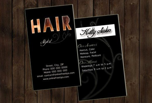 Hair Salons Business Cards Beautiful Freebies 5 Free Hair Stylist Business Cards