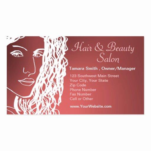 Hair Salons Business Cards Lovely Hair & Beauty Salon Business Card Templates