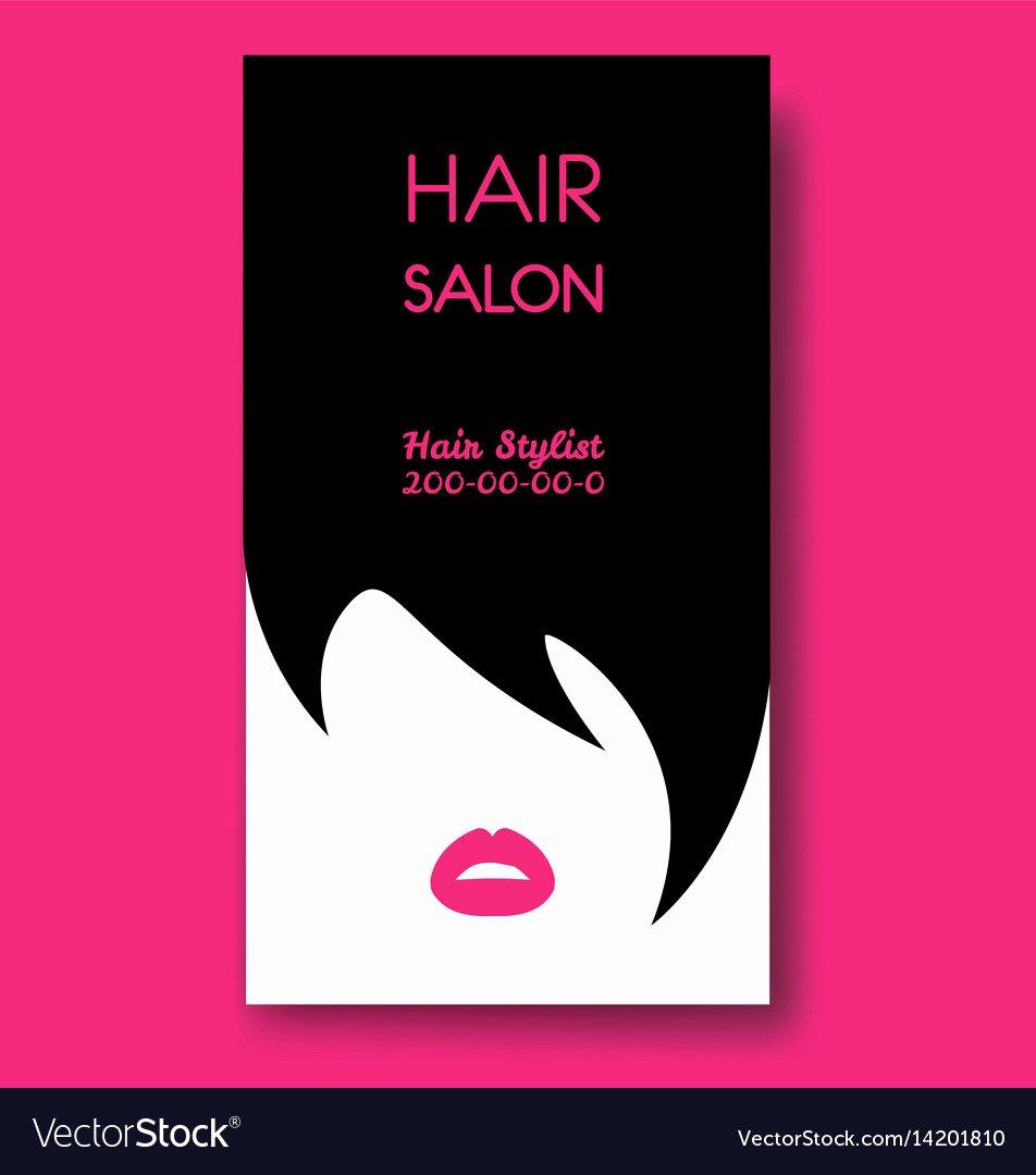 Hair Salons Business Cards Lovely Hair Salon Business Card Templates with Black Hair