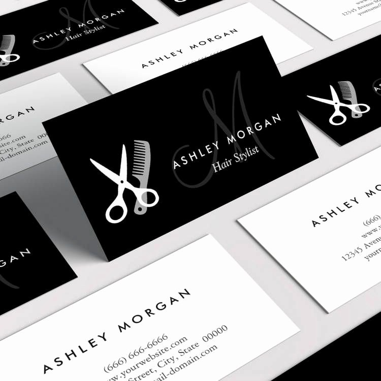 Hair Salons Business Cards New Black White Monogrammed Hair Salon Hairstylist Business