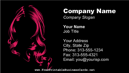 Hair Salons Business Cards New Pink Hair or A Wig Stands Out On the Black Background Of