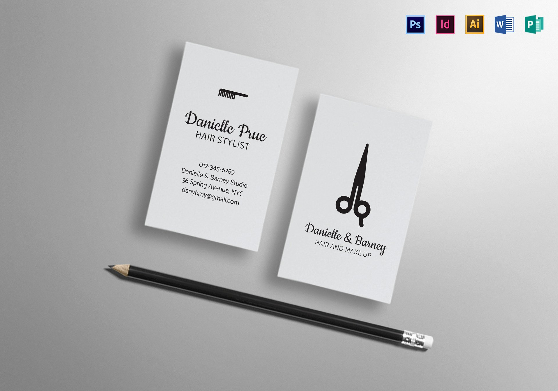 Hair Salons Business Cards Unique Hair Stylist Business Card Design Template In Psd Word