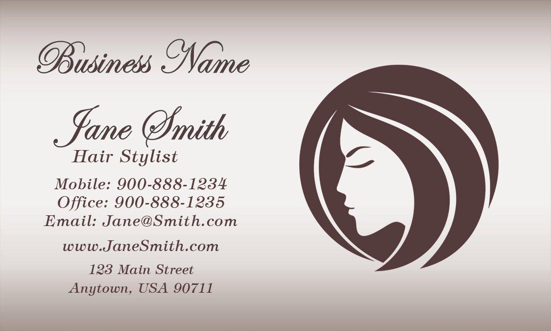 Hair Salons Business Cards Unique Pearl Hair Salon Business Card Design