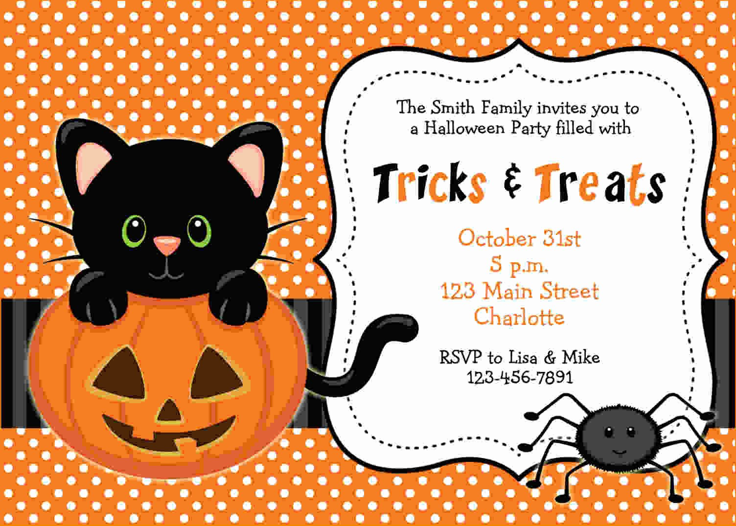 Halloween Birthday Party Invitations Awesome Free Printable Halloween Invitations Templates Free