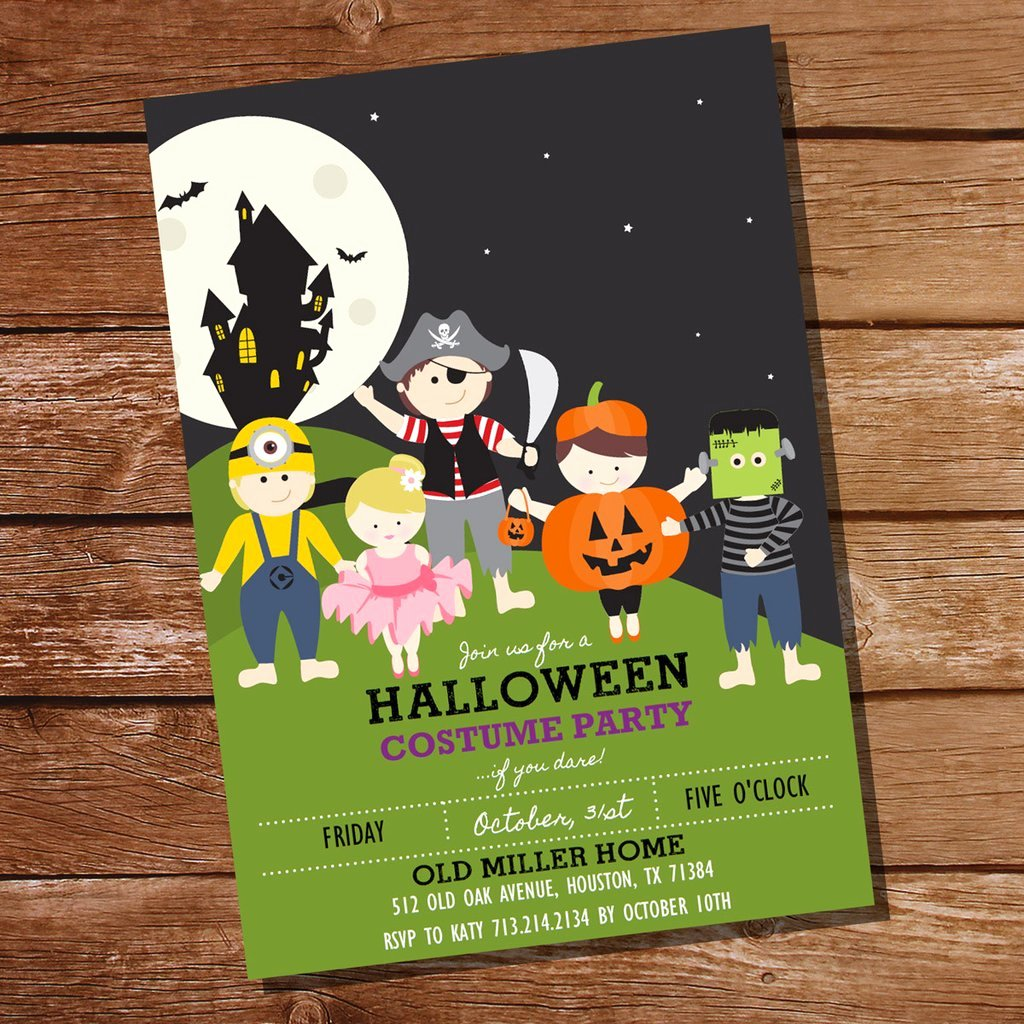 Halloween Birthday Party Invitations Elegant Halloween Costume Party Invitation