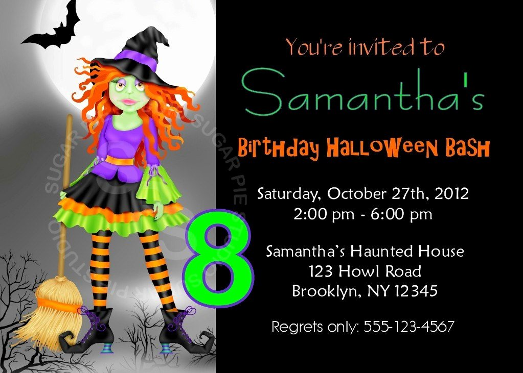 Halloween Birthday Party Invitations Fresh Printable Halloween Birthday Party Invitation Custom