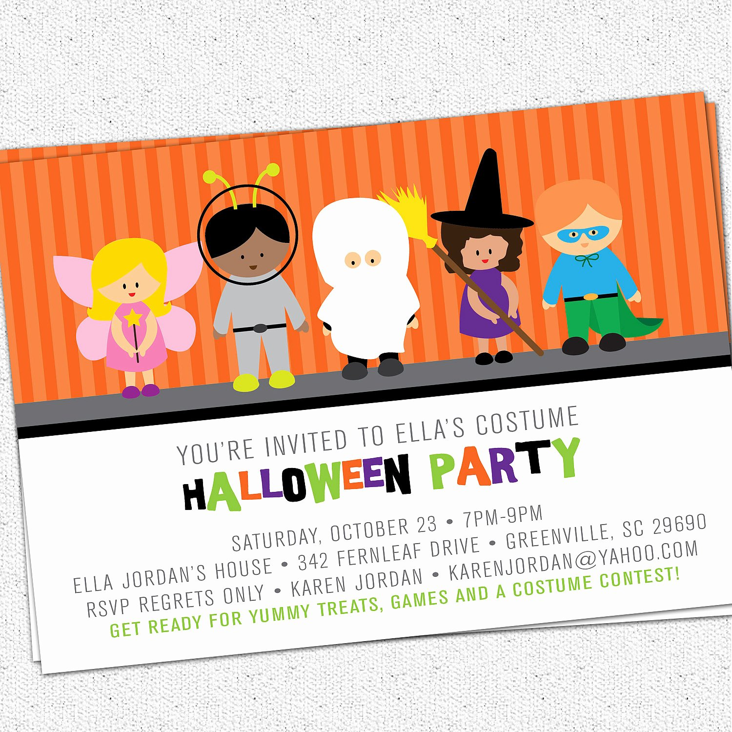 Halloween Birthday Party Invitations Fresh Printable Halloween Invitation Birthday Party Costume Kids