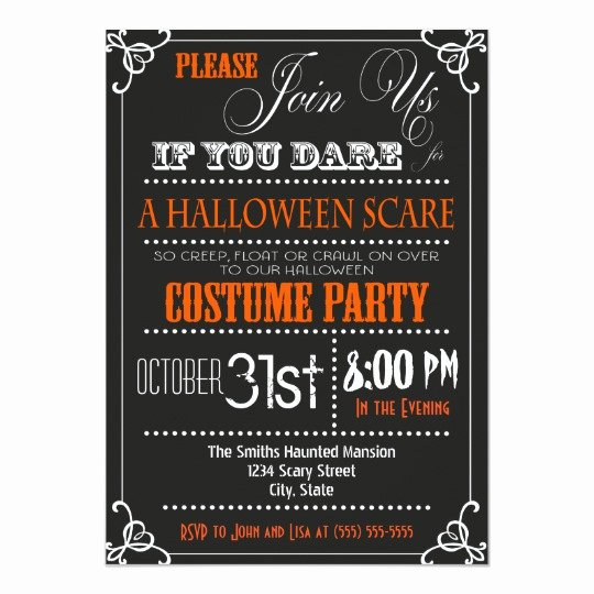 Halloween Birthday Party Invitations Fresh Typography Halloween Party Invitation