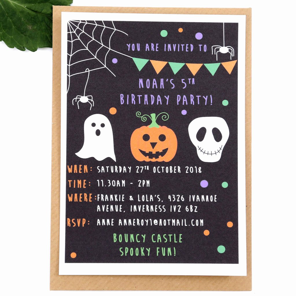 Halloween Birthday Party Invitations Inspirational Halloween Children S Party Invitations by Superfumi