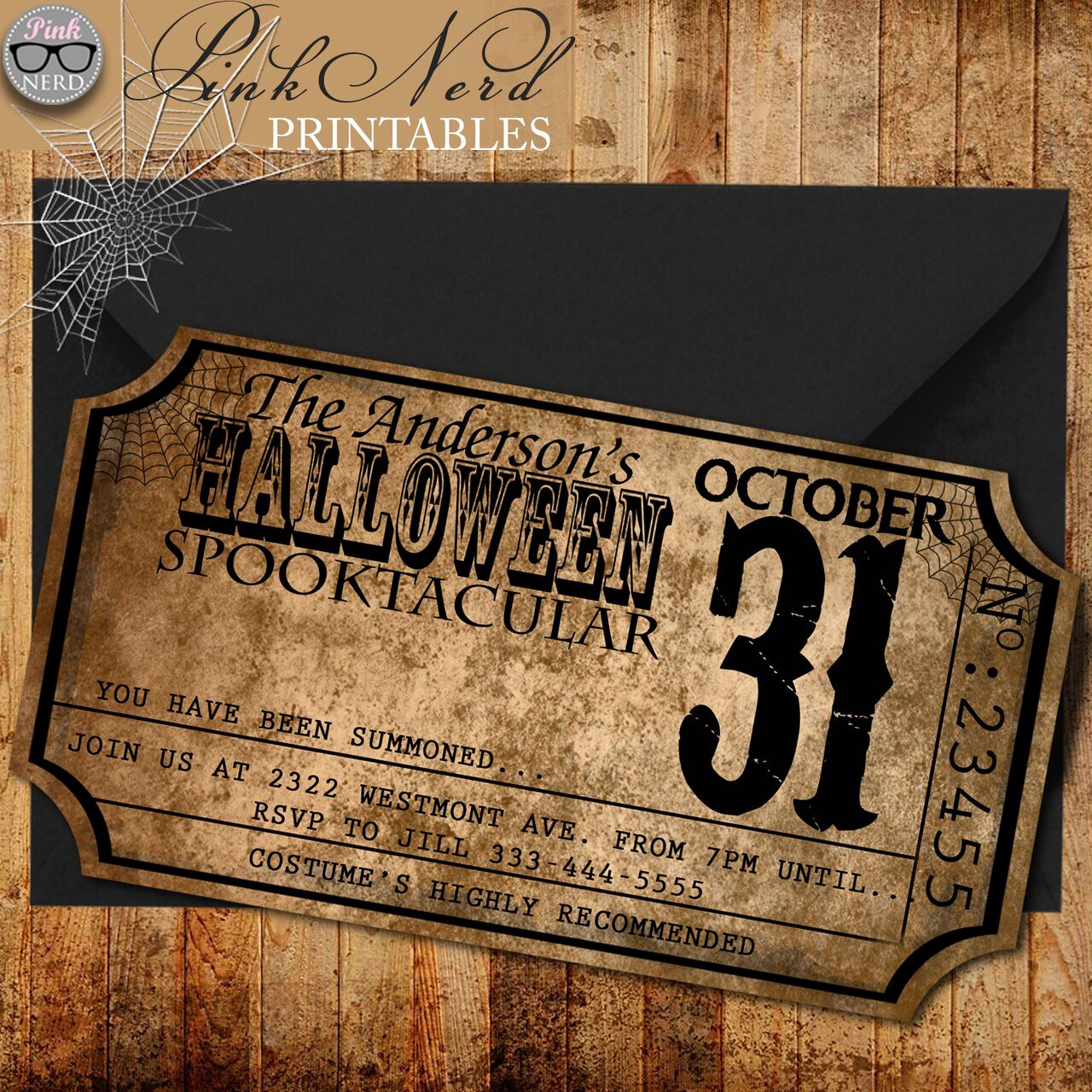 Halloween Birthday Party Invitations Luxury Vintage Halloween Invitation Ticket Old Halloween Party