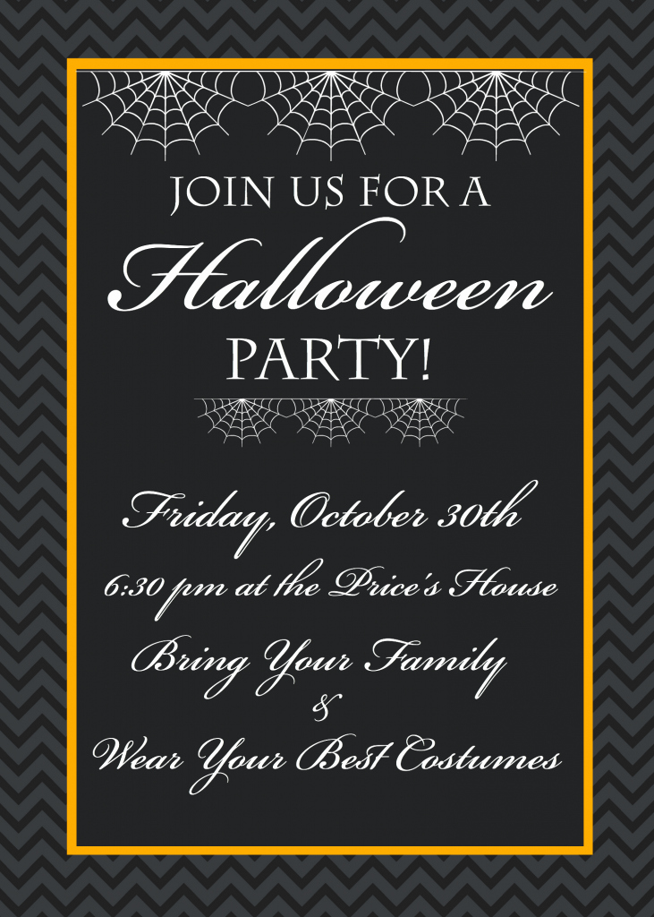 Halloween Birthday Party Invitations New Free Printable Halloween Party Invitations Yellow Bliss Road