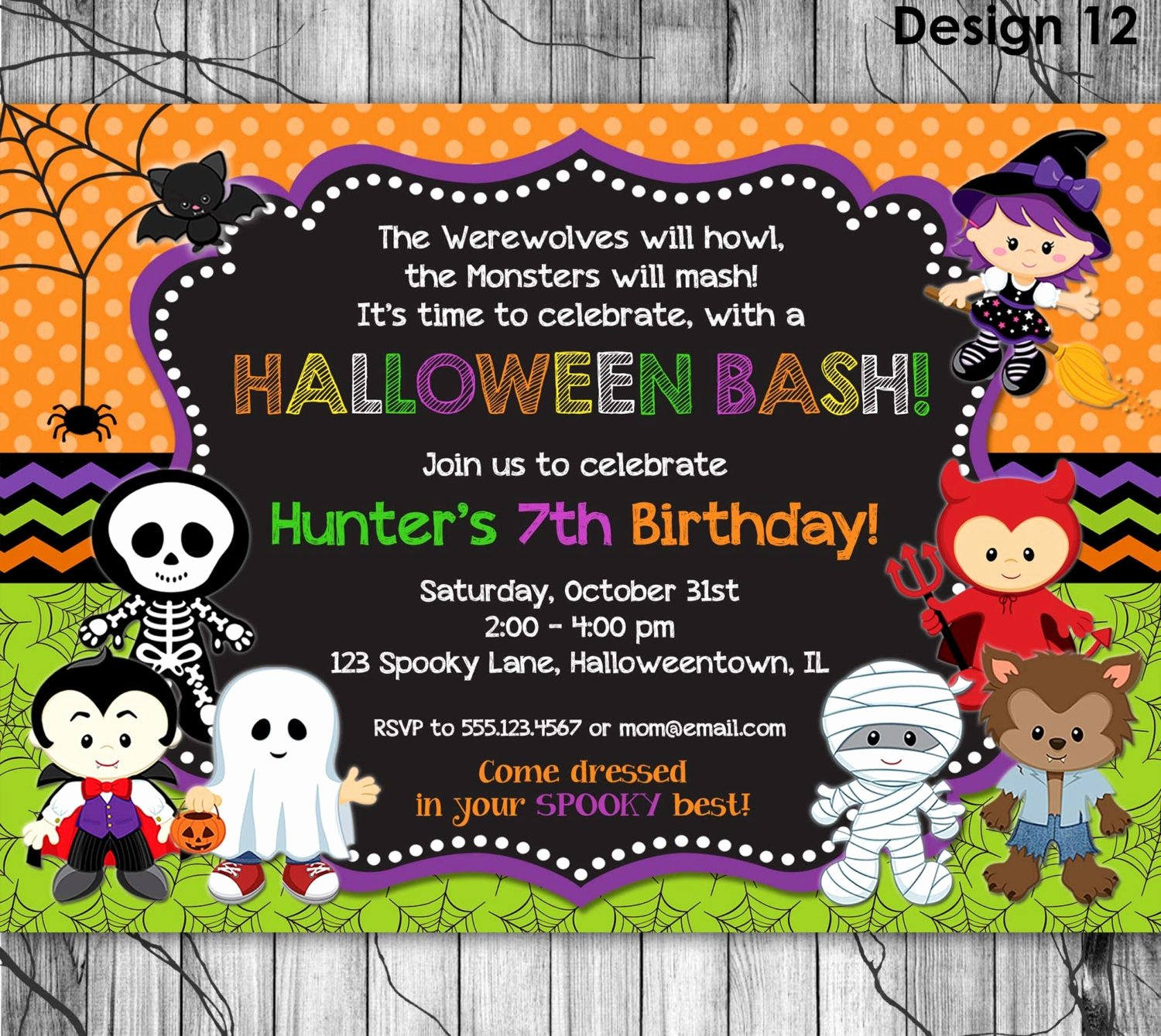 Halloween Birthday Party Invitations New Halloween Birthday Invitation Printable Kids Halloween Party