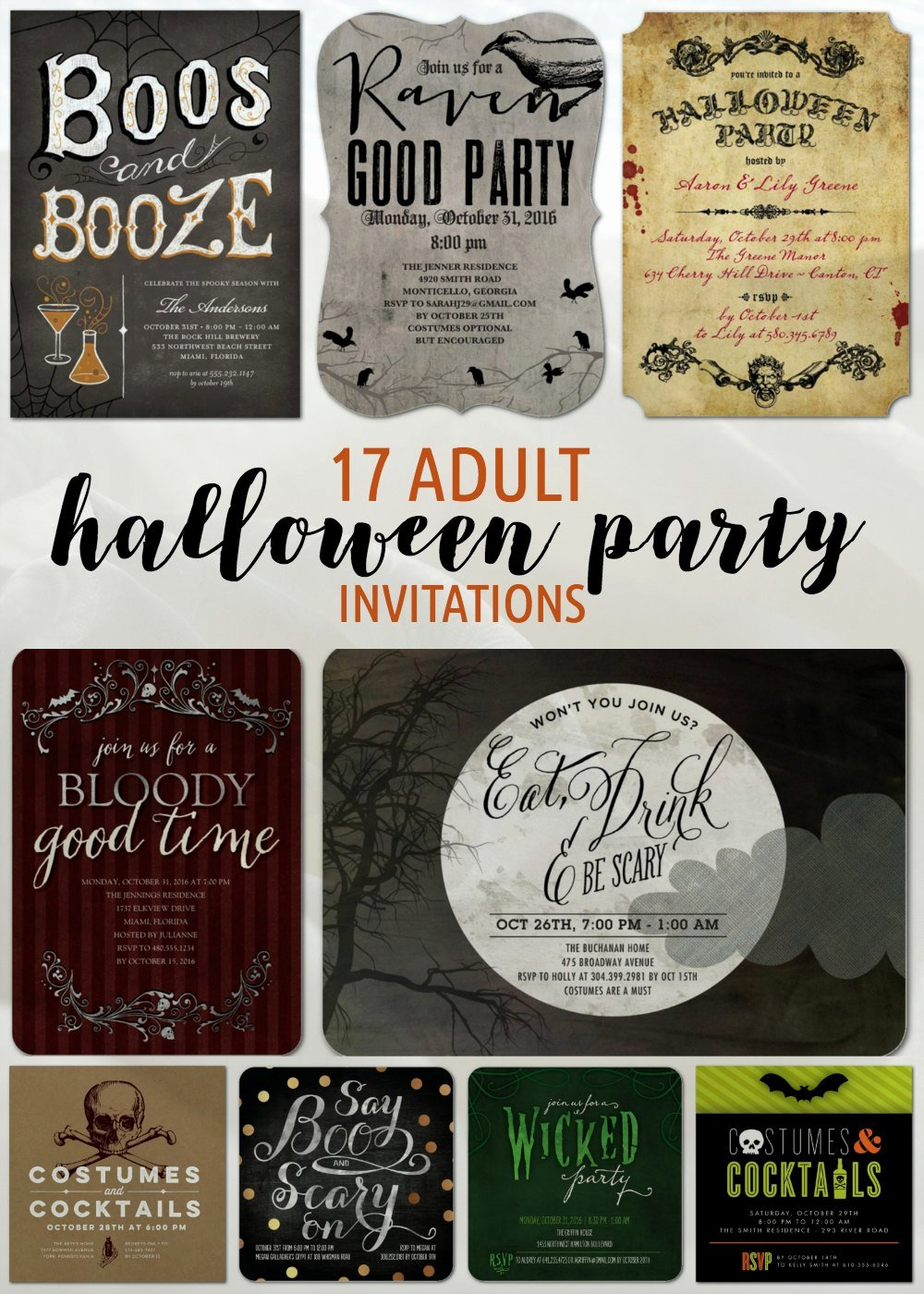 Halloween Birthday Party Invitations Unique 17 Adult Halloween Party Invitations Newlywed Survival