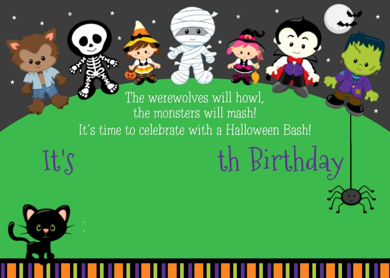 Halloween Birthday Party Invitations Unique Free Printable About Halloween Birthday Party Invitations