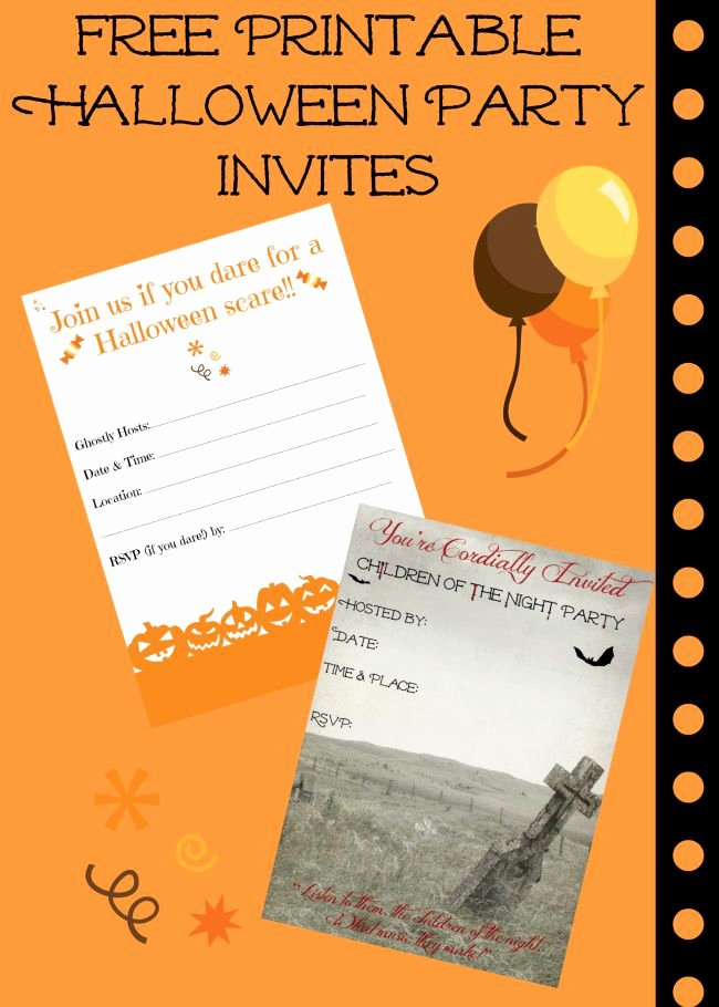 Halloween Birthday Party Invitations Unique Free Printable Halloween Invitations for Your Super