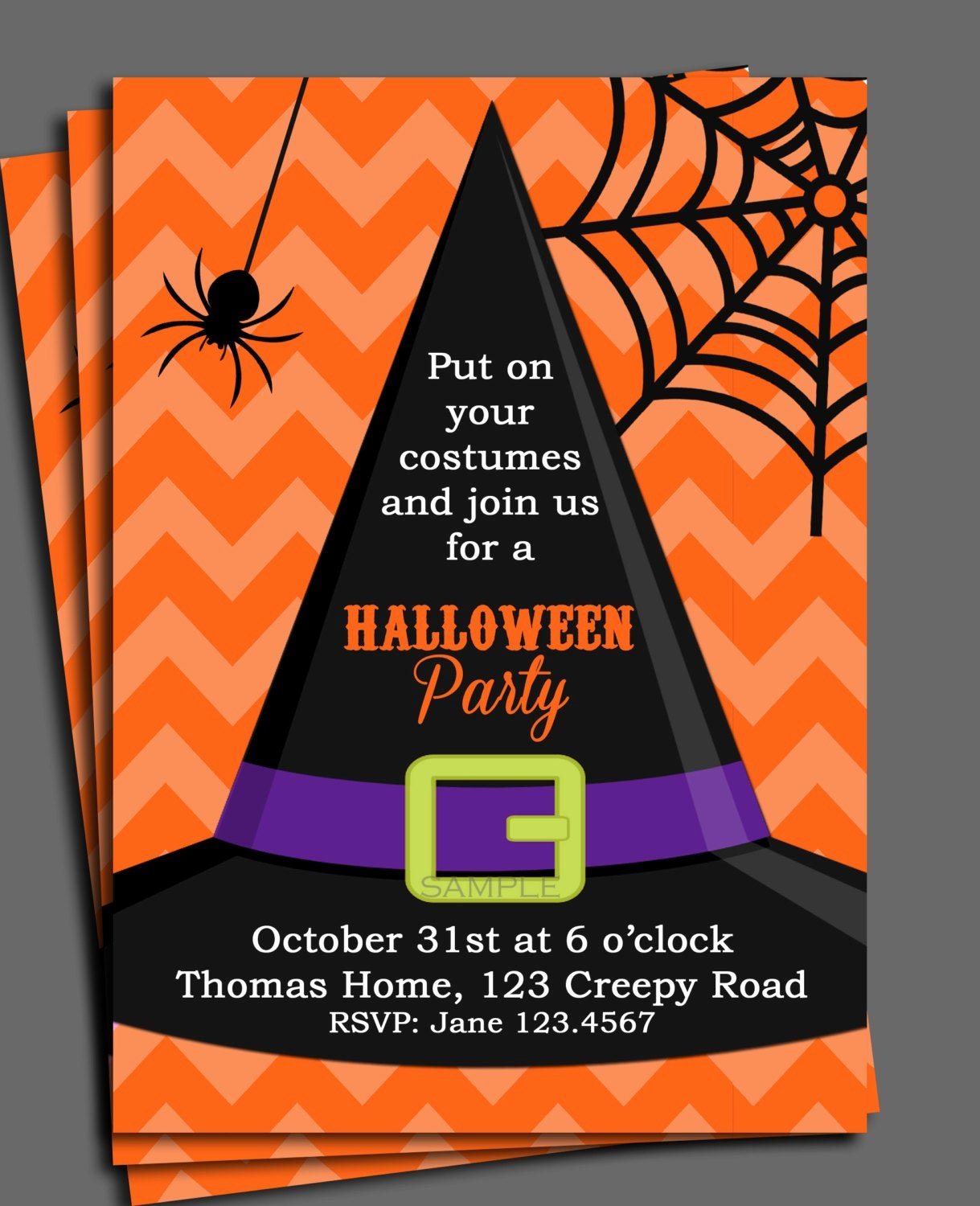 Halloween Birthday Party Invitations Unique Halloween Invitation Printable or Printed with Free