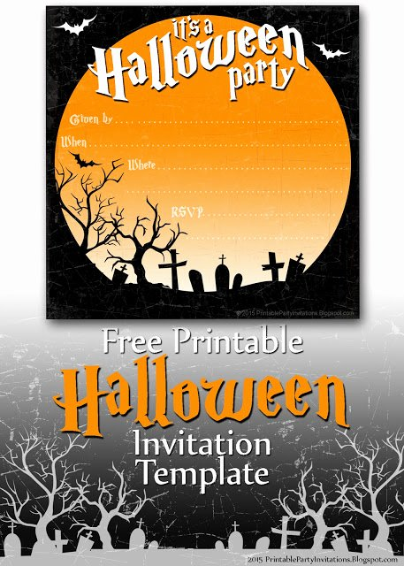 Halloween Party Invitation Template Awesome Free Printable Party Invitations Spooky Graveyard