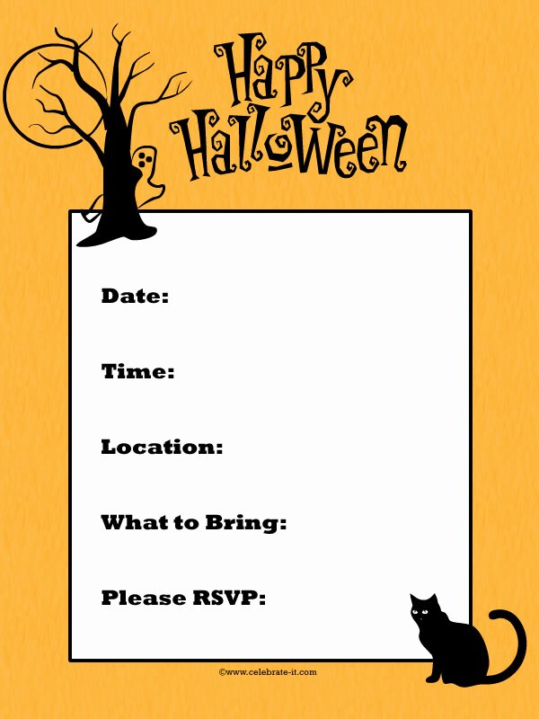 Halloween Party Invitation Template Awesome Halloween Invitation Ideas the Xerxes