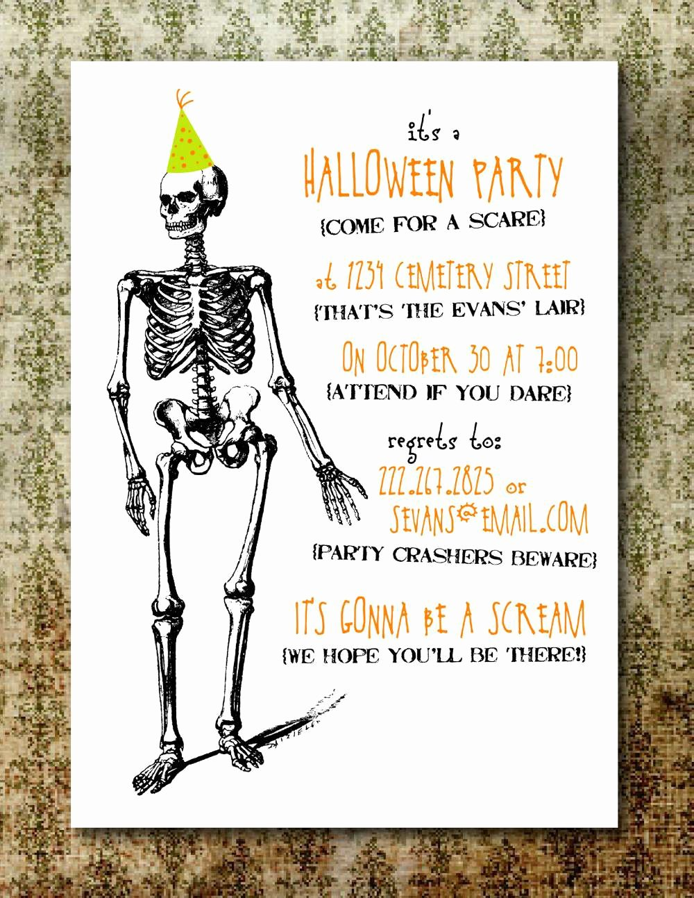 Halloween Party Invitation Template Beautiful Free Printable Halloween Invitation Flyers – Festival