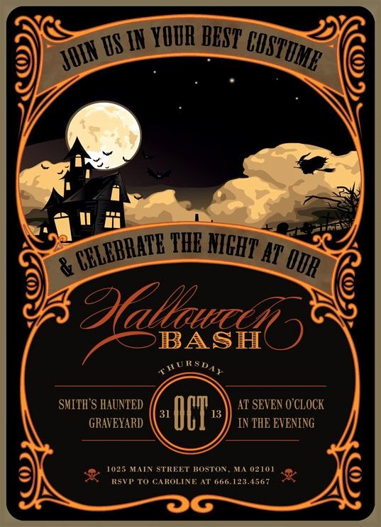 Halloween Party Invitation Template Beautiful Halloween Invitation Ideas the Xerxes
