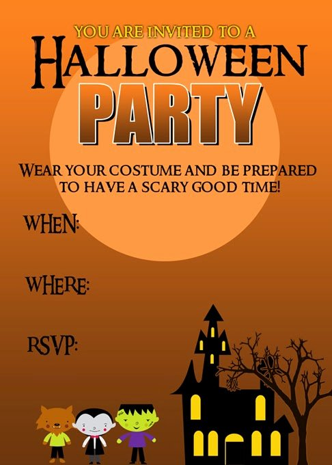 Halloween Party Invitation Template Beautiful Halloween Party Invitation