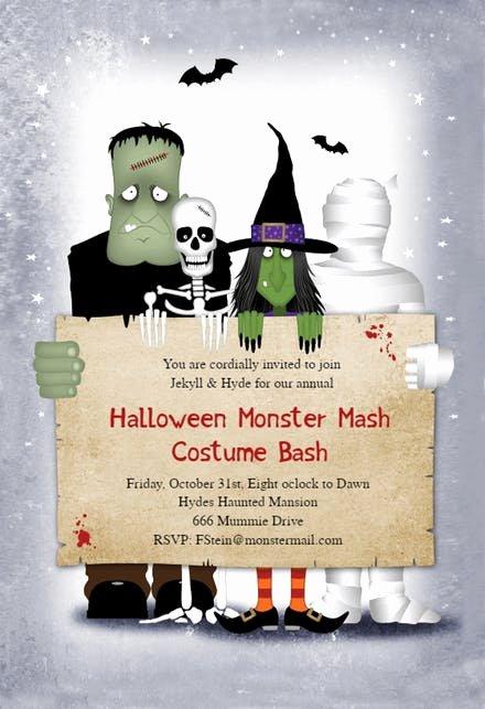 Halloween Party Invitation Template Beautiful Halloween Party Invitation Templates Free