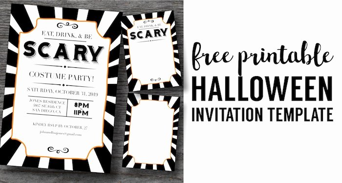 Halloween Party Invitation Template Best Of Halloween Invitations Free Printable Template Paper