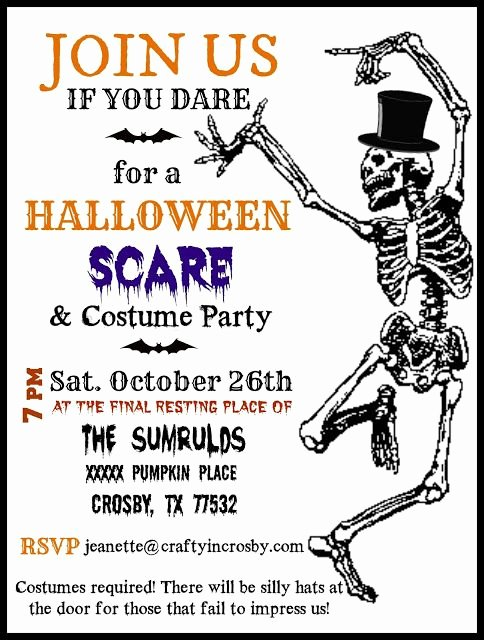 Halloween Party Invitation Template Fresh Halloween Invitation Template by Crafty In Crosby