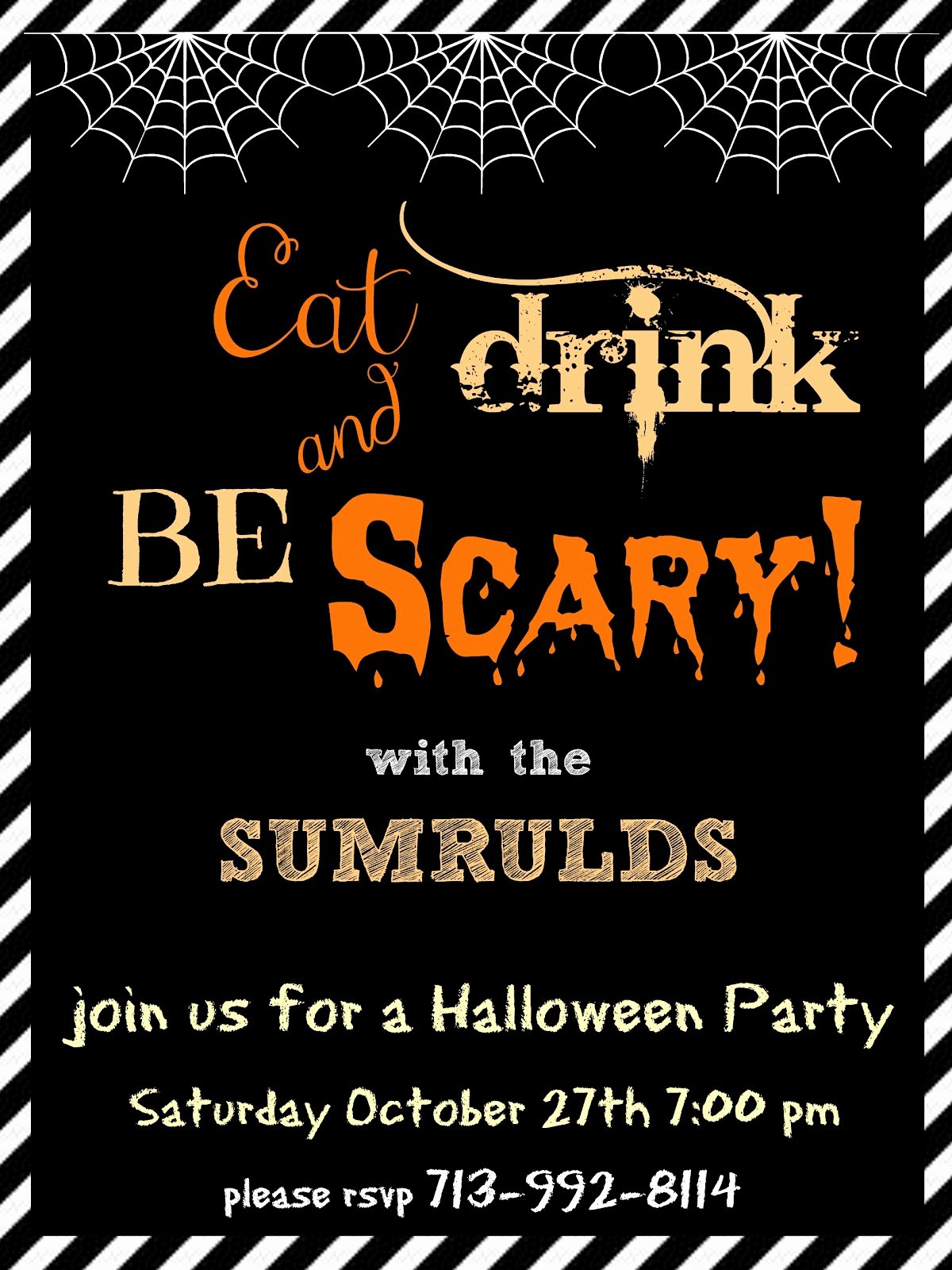 Halloween Party Invitation Template Lovely Crafty In Crosby Halloween Party Invitations Please