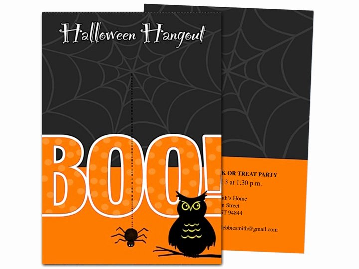 Halloween Party Invitation Template New Boo Halloween Party Invitation Template
