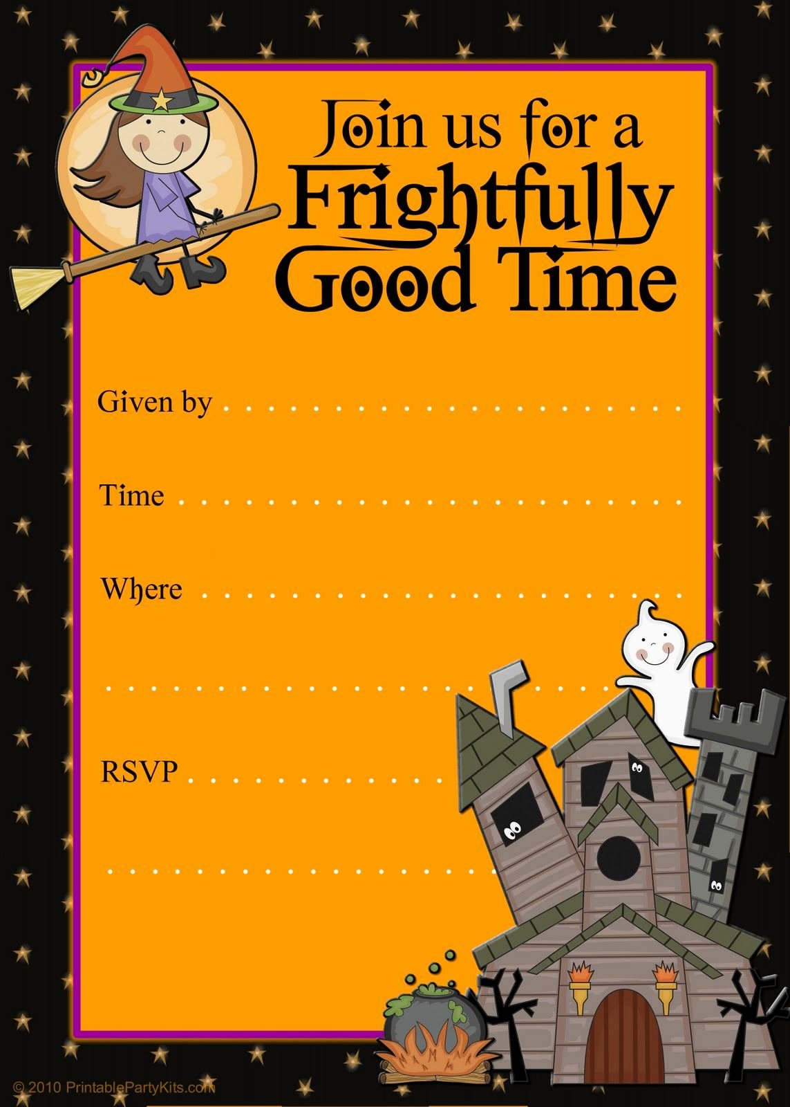 Halloween Party Invitation Template New Free Halloween Flyer Invitations Printable