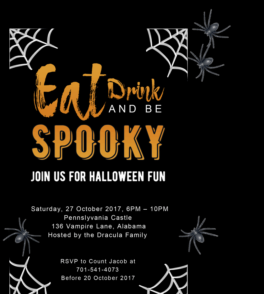 Halloween Party Invitation Template New Free Printable Halloween Party Invitations 2018 [ Template]