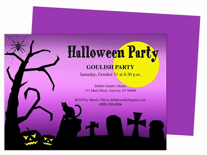 Halloween Party Invitation Template Unique Witch Halloween Party Invitation Template