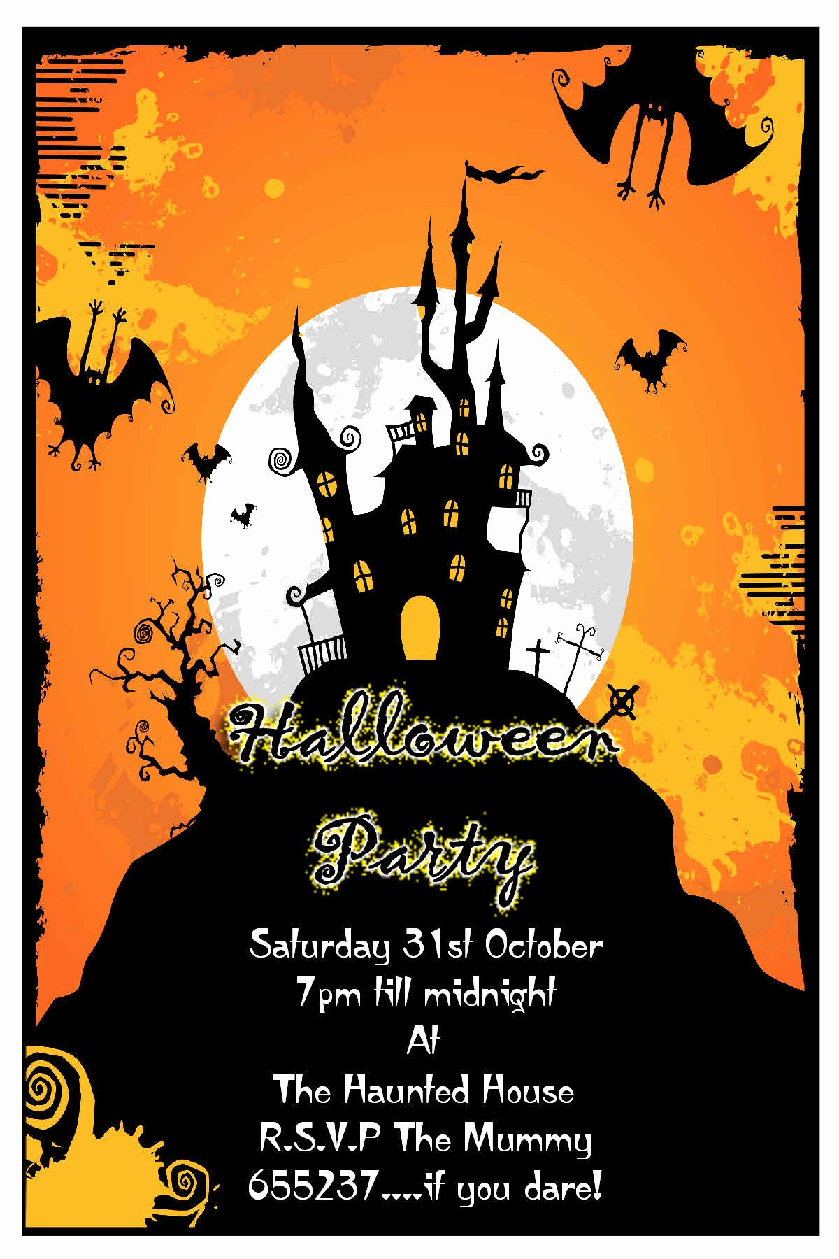 Halloween Party Invitations Template Awesome Halloween Party Invitation Cards – Festival Collections