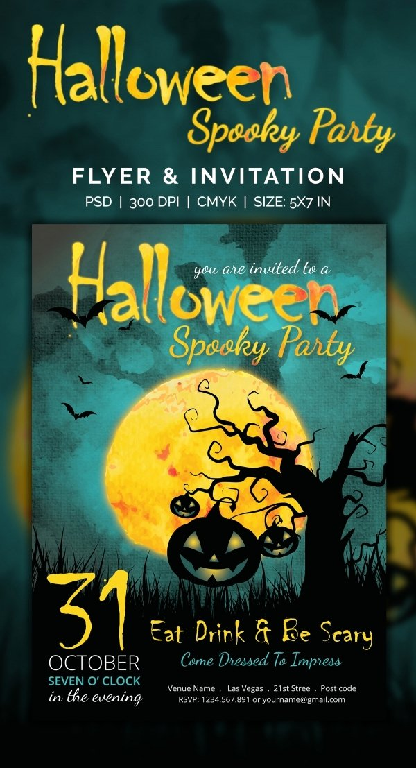 Halloween Party Invitations Template Beautiful 35 Halloween Invitation Free Psd Vector Eps Ai